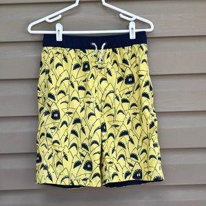 Gap kids boy's navy&yellow swim trunks